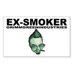 Ex-Smoker Sticker (Rectangle)