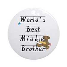 Best Middle Brother Ornament (Round)