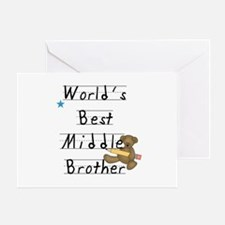 Best Middle Brother Greeting Card