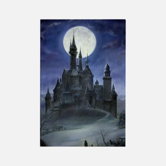 Gothic Castle Rectangle Magnet