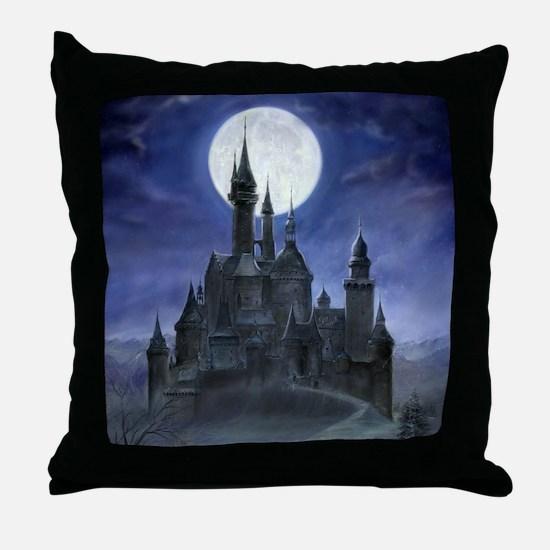 Gothic Castle Throw Pillow