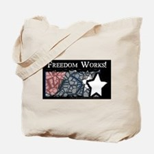 Freedom Works Flag Tote Bag