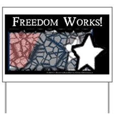 Freedom Works Flag Yard Sign