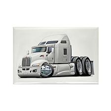 Kenworth 660 White Truck Rectangle Magnet