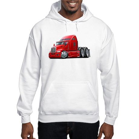 Kenworth 660 Red Truck Hooded Sweatshirt