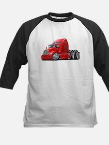 Kenworth 660 Red Truck Kids Baseball Jersey