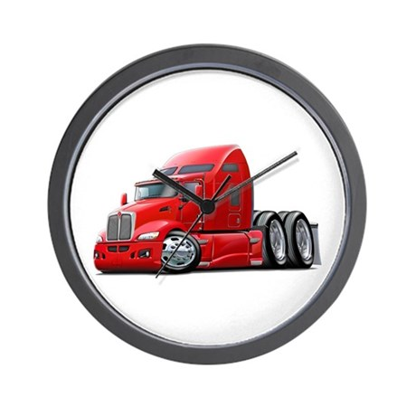 Kenworth 660 Red Truck Wall Clock