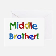 Colors Middle Brother Greeting Card