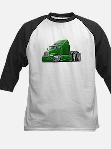 Kenworth 660 Green Truck Kids Baseball Jersey