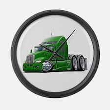 Kenworth 660 Green Truck Large Wall Clock