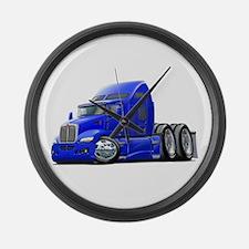 Kenworth 660 Blue Truck Large Wall Clock