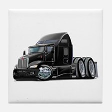 Kenworth 660 Black Truck Tile Coaster