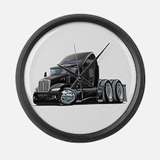 Kenworth 660 Black Truck Large Wall Clock