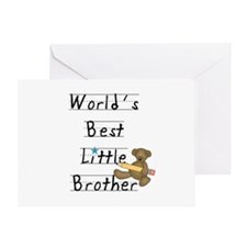 Bear Little Brother Greeting Card