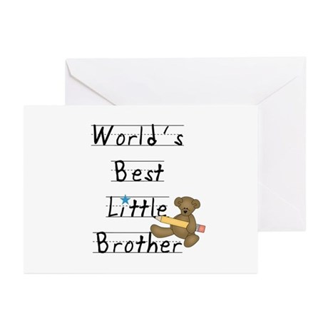Bear Little Brother Greeting Cards (Pk of 20)