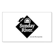 Sunday River Hummer Logo No Lift Decal