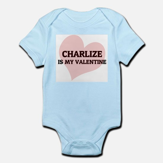 Charlize Is My Valentine Infant Creeper