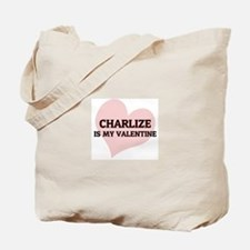 Charlize Is My Valentine Tote Bag