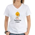 Gardening Chick Women's V-Neck T-Shirt
