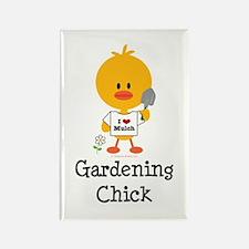 Gardening Chick Rectangle Magnet