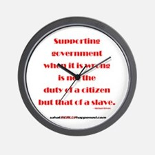 Supporting Government Wall Clock