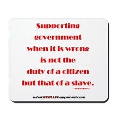 Supporting Government Mousepad