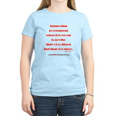Supporting Government T-Shirt