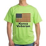 Korea Veteran (Front) Green T-Shirt