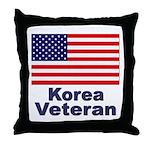Korea Veteran Throw Pillow