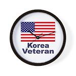 Korea Veteran Wall Clock