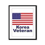 Korea Veteran Framed Panel Print