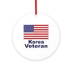Korea Veteran Ornament (Round)