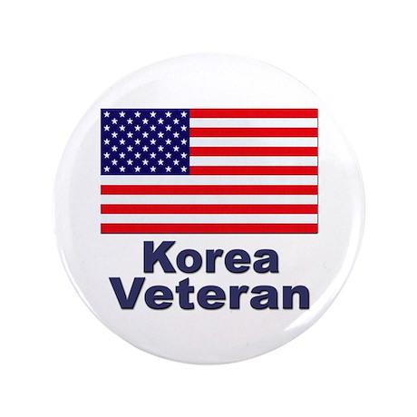 """Korea Veteran 3.5"""" Button"""