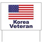 Korea Veteran Yard Sign
