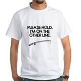 Fishing Mens White T-shirts