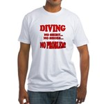 Diving - No Shirt, No Shoes, Fitted T-Shirt