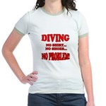 Diving - No Shirt, No Shoes, Jr. Ringer T-Shirt