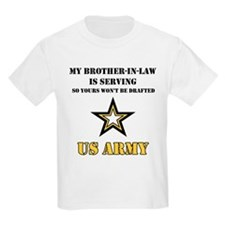 Army - Brother-in-law Serving Kids T-Shirt