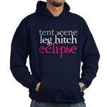 Tent Scene, Leg Hitch, Eclipse Hoodie (dark)