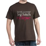 Tent Scene, Leg Hitch, Eclipse Dark T-Shirt
