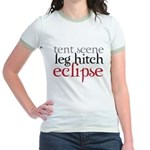 Tent Scene, Leg Hitch, Eclipse Jr. Ringer T-Shirt