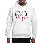Tent Scene, Leg Hitch, Eclipse Hooded Sweatshirt