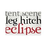 Tent Scene, Leg Hitch, Eclipse Rectangle Magnet