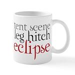 Tent Scene, Leg Hitch, Eclipse Mug