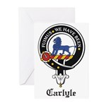Carlyle Clan Crest Badge Greeting Cards (Package o