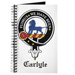 Carlyle Clan Crest Badge Journal