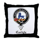 Carlyle Clan Crest Badge Throw Pillow