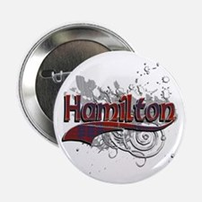 "Hamilton Tartan Grunge 2.25"" Button"