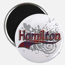 Hamilton Tartan Grunge Magnet