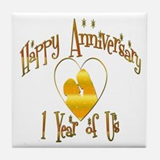 Wedding anniversary party Tile Coaster